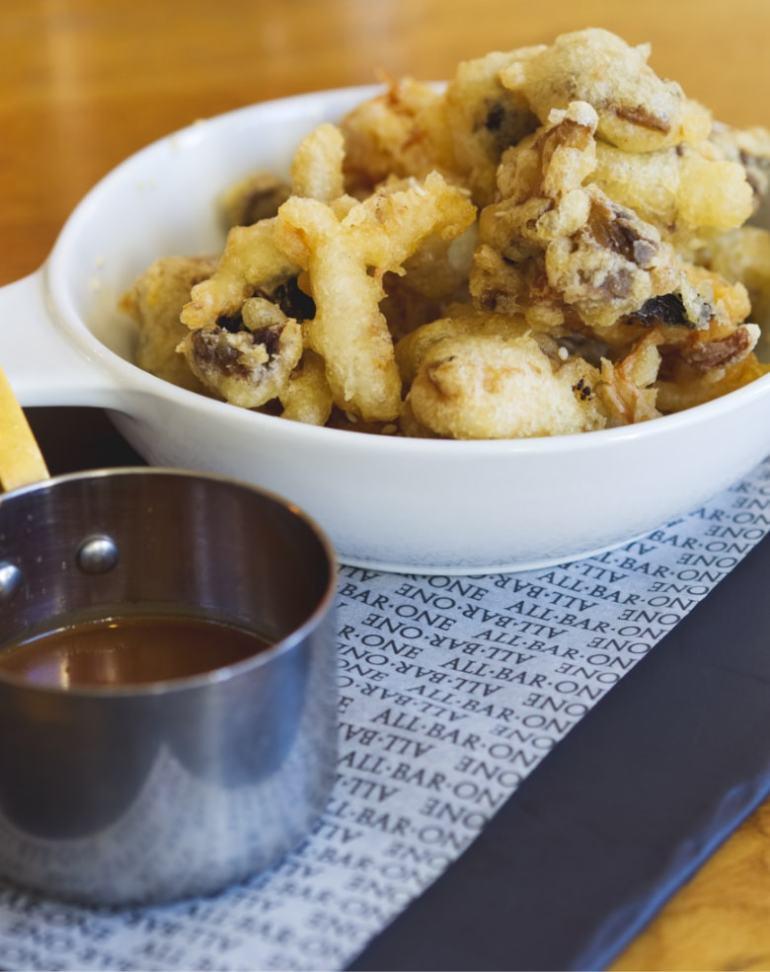 Vegan mushroom tempura at All Bar One Edinburgh