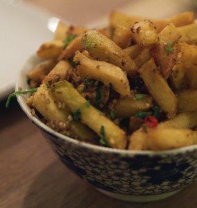 Cantonese Seasoned Chips at Wee Buddha Edinburgh
