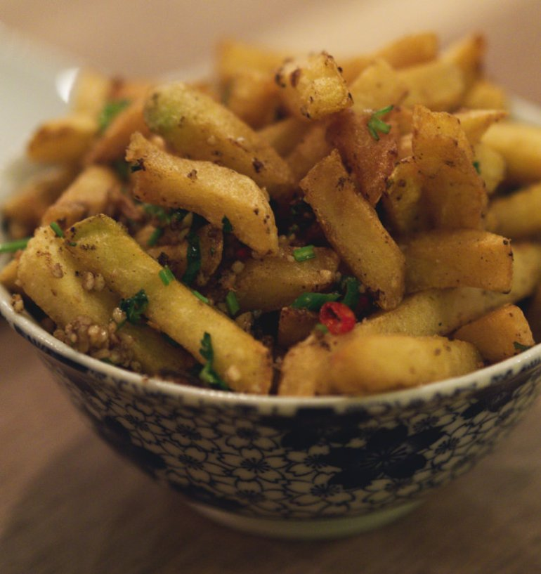 Cantonese Seasoned Chips at Wee Buddha Edinburgh
