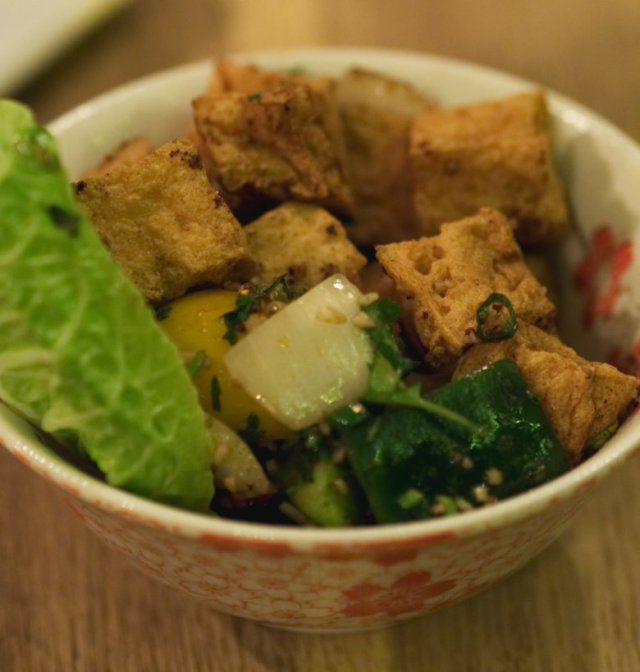 Vegan Crispy Tofu at Wee Buddha Edinburgh