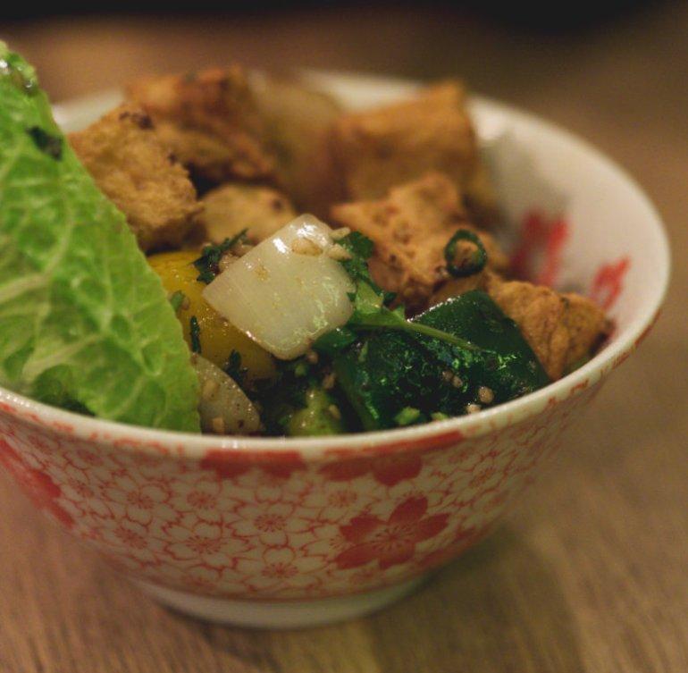 Vegan Crispy Tofu at Wee Buddha Edinburgh