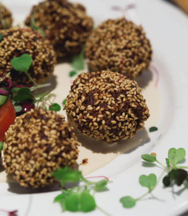 Vegan falafels at Filmhouse Cafe Bar
