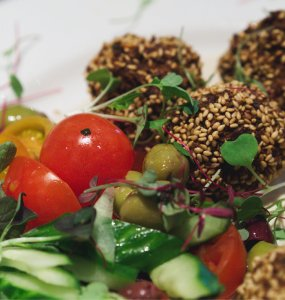 Vegan falafels at Filmhouse Cafe Bar