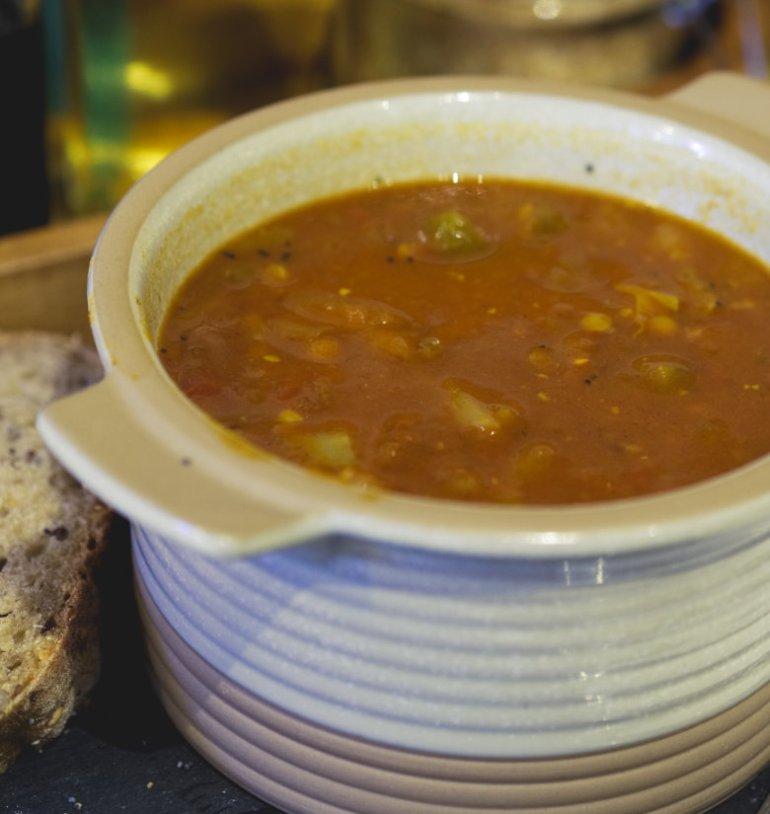 Vegan soup at Union of Genius