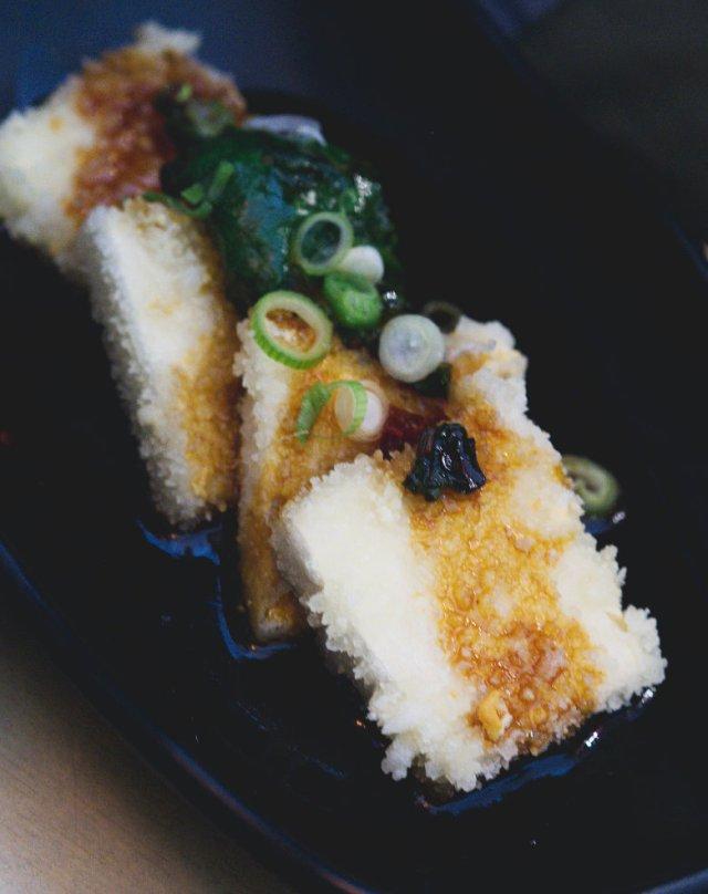 Vegan tofu teppanyaki at Bonsai Bistro Edinburgh