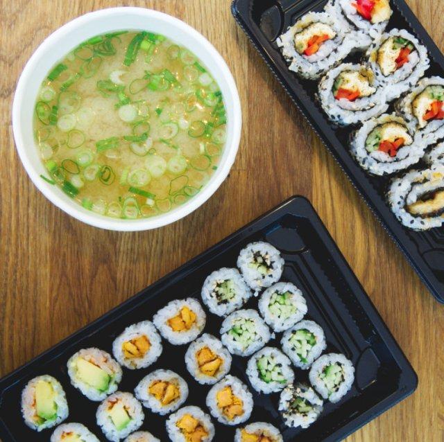 Vegan food at Soul Sushi Edinburgh