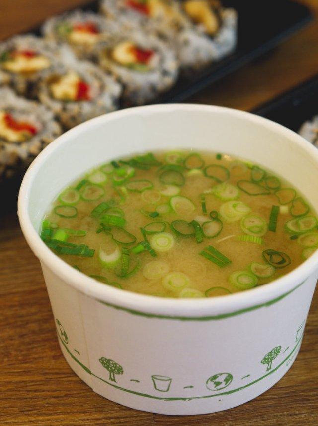 Vegan Miso Soup at Soul Sushi Edinburgh