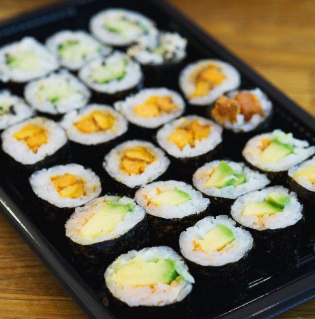 Mixed vegan hosomaki at Soul Sushi Edinburgh