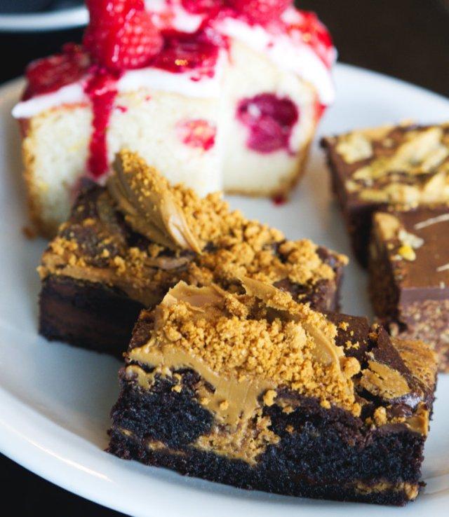 Vegan biscoff cake at Mimi's Bakehouse Edinburgh