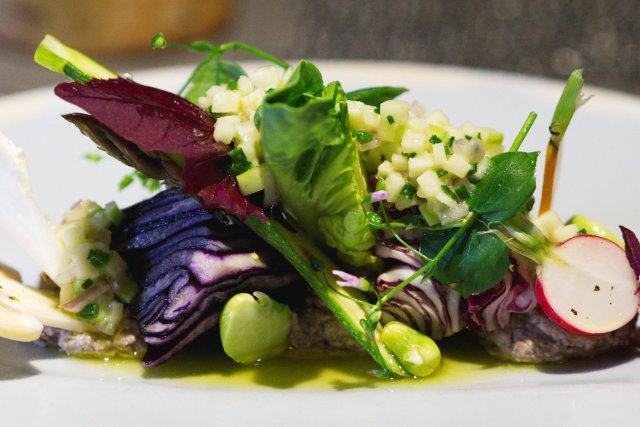 Vegan food at The Kitchin Edinburgh