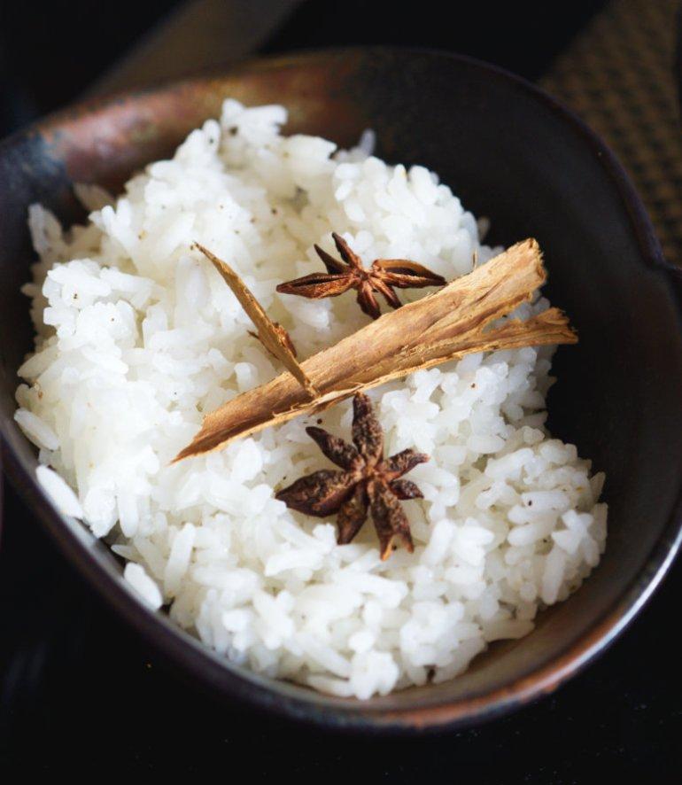 Vegan rice at Malmaison, Edinburgh