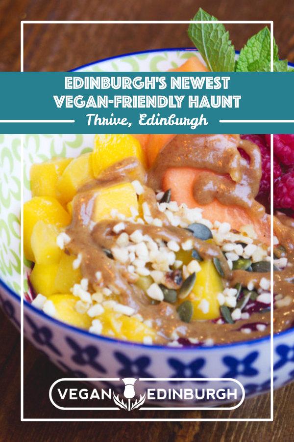 Vegan food at Café Thrive, Edinburgh