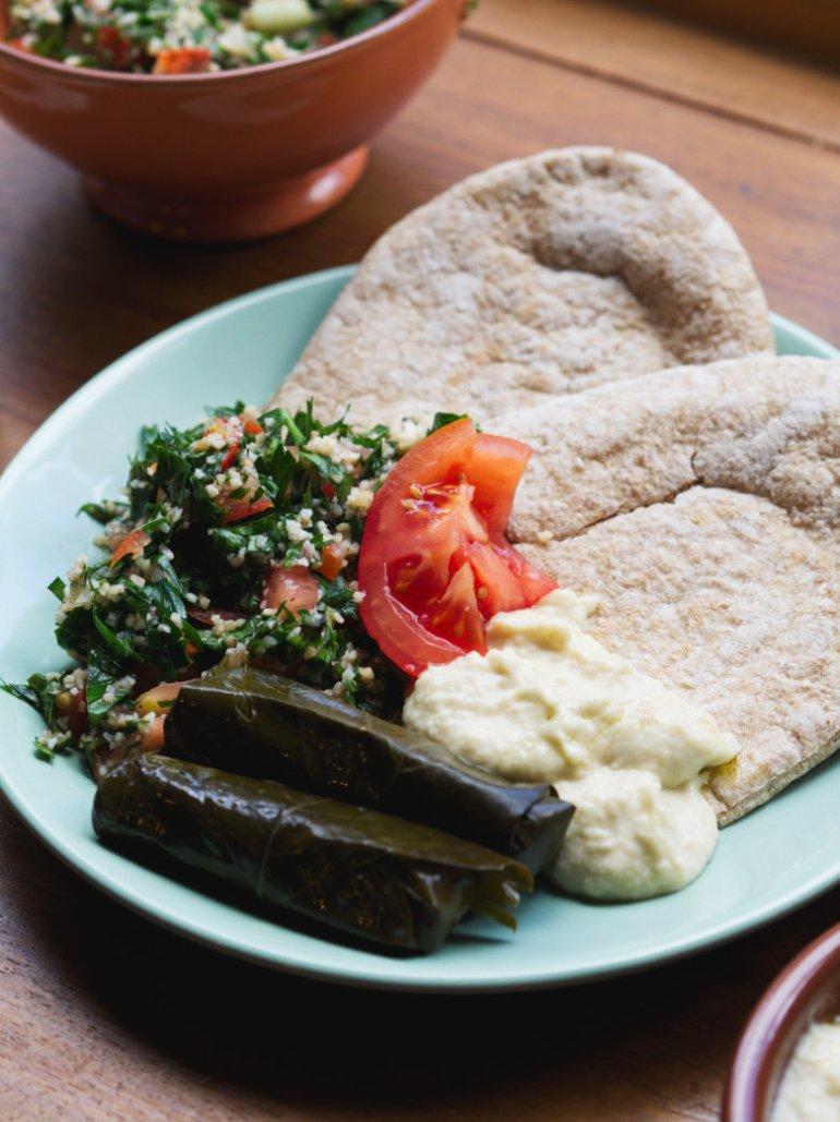 Vegan meze at Hummus, Edinburgh