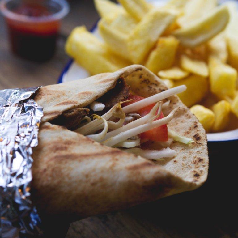 Vegan karma life kebab at Karma Kebab, Edinburgh