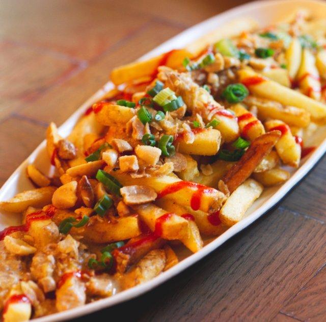 Vegan Super Thai Fries at Bar Soba, Edinburgh