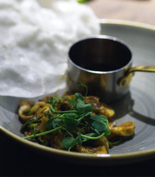 Vegan pan-fried mushrooms at The Sheep Heid Inn, Edinburgh