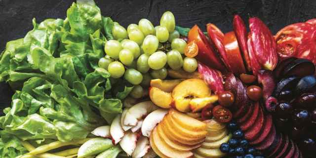 Fruits and vegetables from the Scottish Vegan Cookbook