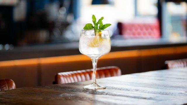 Vegan cocktail at BrewDog, Edinburgh