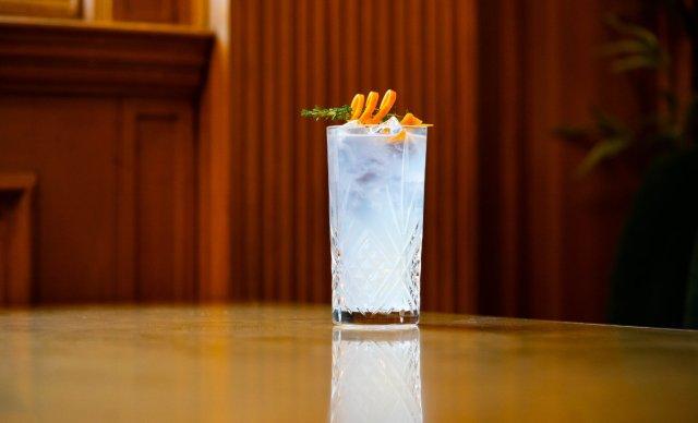 Vegan cocktail at Grand Café, Edinburgh