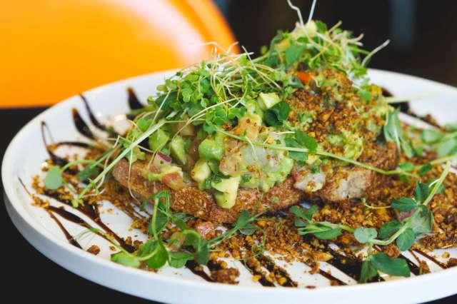 Vegan avocado on toast at Grams, Edinburgh