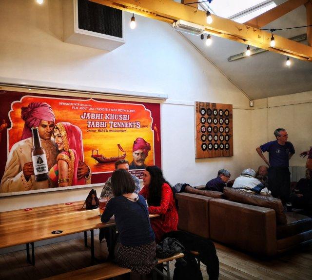 Inside Bellfield Brewery Taproom