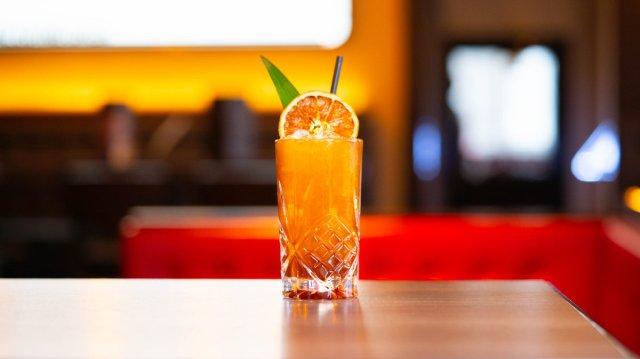 Vegan cocktail at Malmaison, Edinburgh