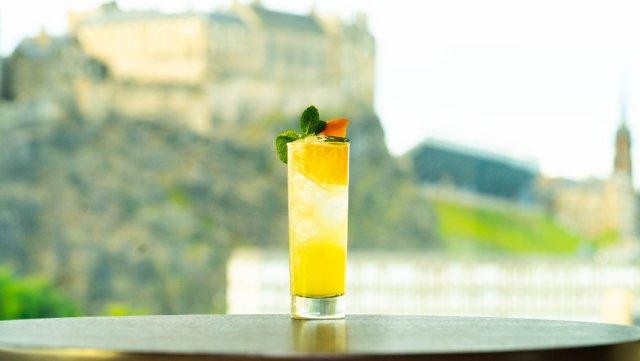 Vegan cocktail at Skybar, Edinburgh