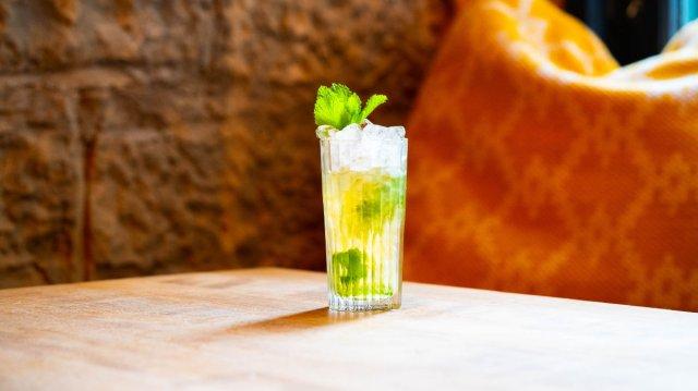 Vegan cocktail at The Villager, Edinburgh