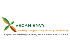 Image of the VeganEnvy Food Blog logo and tagline.