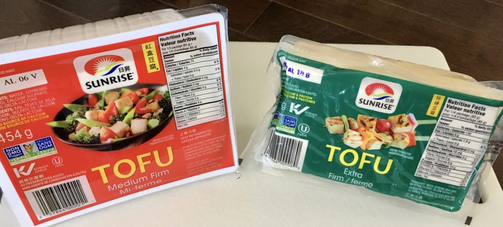 Tofu in package