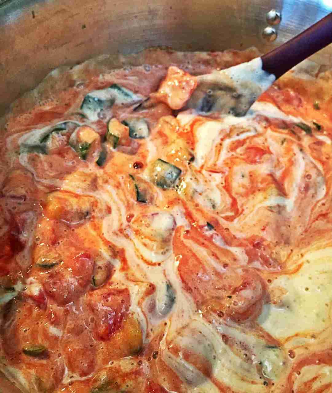 Stir in cream sauce