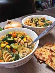 Dad's Vegan Soup with Pasta