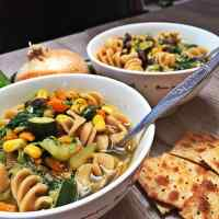 Green Vegetable Medley Pasta Soup (Dad's Soup)