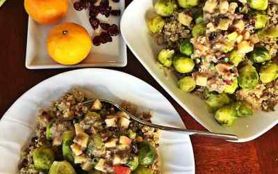 Brussels Sprouts, Quinoa and Lentil Pilaf – Orange Cranberry Apple Sauce