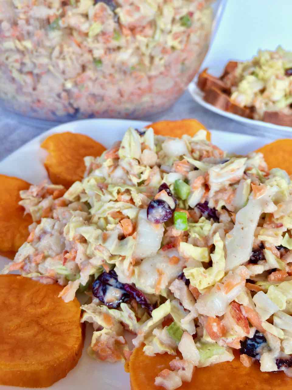 creamy vegan apple cabbage coleslaw