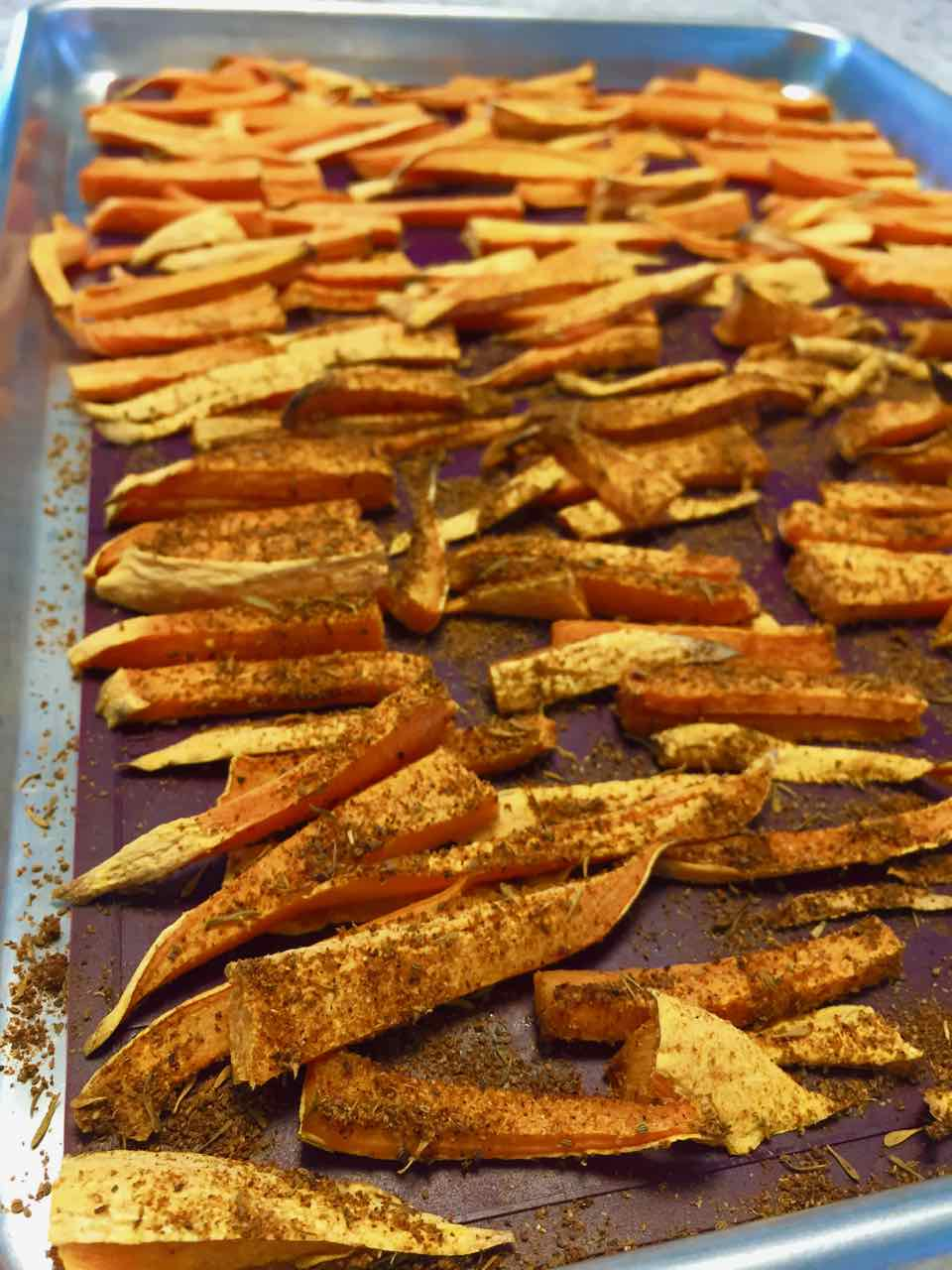 baked healthy sweet potato fries no-oil