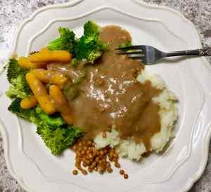 Vegan Brown Gravy in Microwave