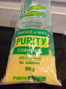 raw cornmeal for vegan polenta