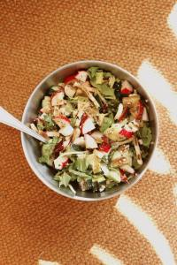 salad with low fodmap dressing