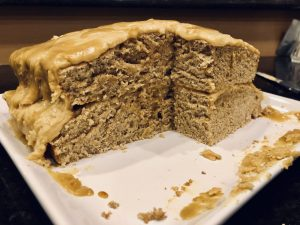 Vegan Vanilla cake whole wheat with protein powder