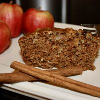 Healthy Vegan Apple Cake - Whole Wheat No-Oil WFPB