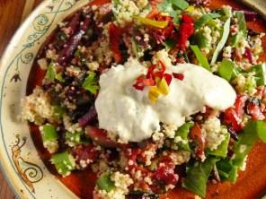 Couscous-Gemüse mit veganer Remoulade