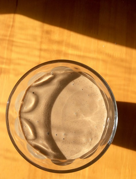 chocolate shake in the sun
