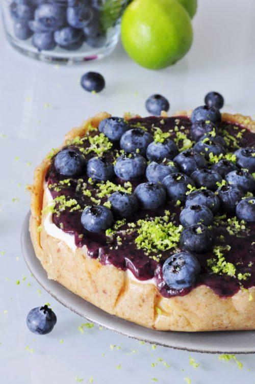 Vegan Cake Recipes, Blueberry Cheesecake