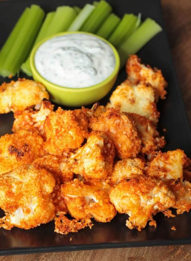 Buffalo Cauliflower Bites Recipe - Vegan Finger Food Recipes