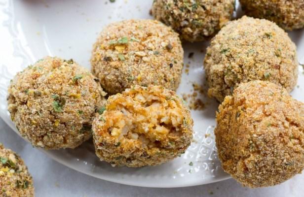 Baked Italian Rice Balls Recipe - Vegan Finger Food Recipes
