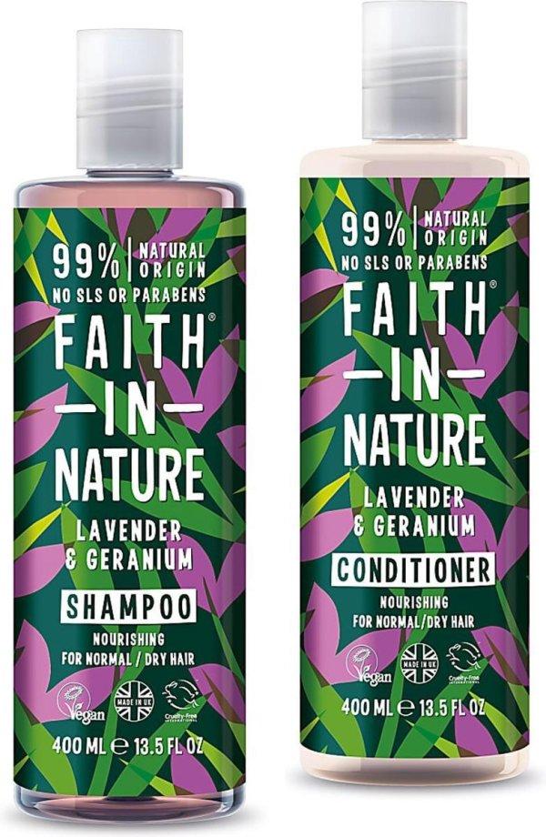 Faith in Nature Biologische Ecologische VEGAN Shampoo & Conditioner Lavendel