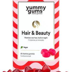 Yummygums - Hair & Beauty haar vitamine - 60 gummies - 3000 mcg biotine - vegan