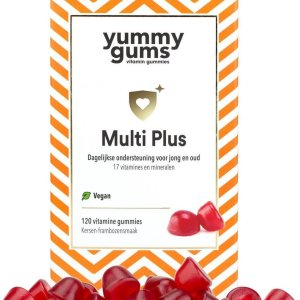 Yummygums - multivitamine gummies - vegan - 800% B12, D3 - 17 vitamines - volwassenen & kinderen