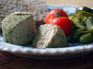 creamy baked cashew cheese
